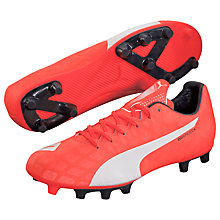 Buy Puma evoSPEED 5.4 FG Football Boots, Red Online at johnlewis.com