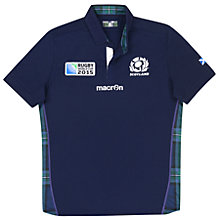 Buy Macron Scotland Rugby World Cup 2015 Rugby Shirt, Navy Online at johnlewis.com