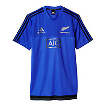 Buy Adidas New Zealand All Blacks Rugby Performance T-Shirt, Purple/Black Online at johnlewis.com