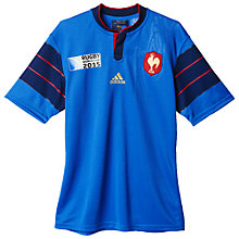 Buy Adidas France Rugby World Cup 2015 Rugby Shirt, Blue Online at johnlewis.com