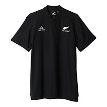 Buy Adidas New Zealand All Blacks Rugby Anthem Polo Shirt, Black Online at johnlewis.com