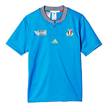 Buy Adidas Italy Rugby World Cup 2015 Home Rugby Shirt, Blue Online at johnlewis.com