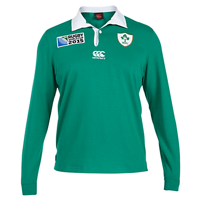 Canterbury of New Zealand Rugby World Cup Childrens Ireland Home Classic Long Sleeve Rugby Jersey Green