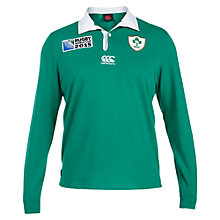 Buy Canterbury of New Zealand Rugby World Cup Children's Ireland Home Classic Long Sleeve Rugby Shirt, Green Online at johnlewis.com
