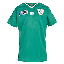 Buy Canterbury of New Zealand Rugby World Cup Children's Ireland Home Pro Rugby Shirt, Green Online at johnlewis.com