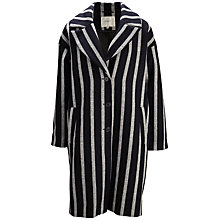 Buy Selected Femme Cocoana Coat, Black/White Online at johnlewis.com