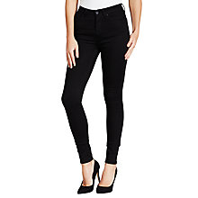 Buy Barbour International Thruxton High Waist Super Skinny Jeans, Stay Black Online at johnlewis.com