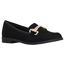 Buy Carvela Lack Low Heeled Slip On Loafers, Black Online at johnlewis.com