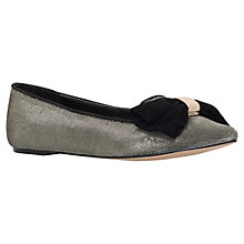 Buy Carvela Lin Bow Detail Ballerina Pumps, Gold Online at johnlewis.com