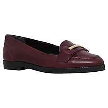 Buy Carvela Low Flat Round Toe Loafers, Wine Leather Online at johnlewis.com