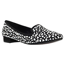 Buy Carvela Lord Embellished Block Heeled Loafers, Black Online at johnlewis.com