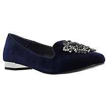 Buy Carvela Lady Jewel Embellished Loafer Pumps, Mid Blue Velvet Online at johnlewis.com