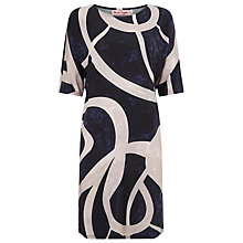 Buy Phase Eight Tina Batwing Tunic Dress, Black/Beige Online at johnlewis.com