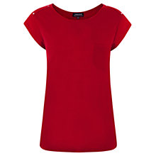 Buy Warehouse Pocket Detail T-Shirt, Bright Red Online at johnlewis.com