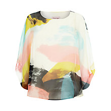 Buy Phase Eight Fabienne Silk Blouse, Multi-Coloured Online at johnlewis.com