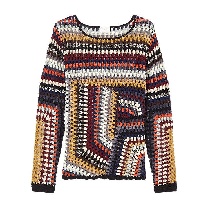 Buy East Hand Crochet Jumper, Multi, XS/S Online at johnlewis.com