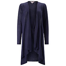 Buy Phase Eight Linen Lea Cardigan, Navy Online at johnlewis.com