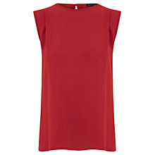 Buy Warehouse Open Back Shell Top, Bright Red Online at johnlewis.com