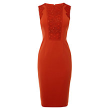 Buy Karen Millen Lace Detail Dress, Orange Online at johnlewis.com