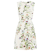 Buy Warehouse Blossom Floral Scuba Dress, Cream Online at johnlewis.com