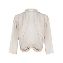 Buy Jacques Vert Chiffon Bolero, Mid Neutral Online at johnlewis.com