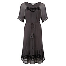Buy East Embroidered Dress, Slate Online at johnlewis.com