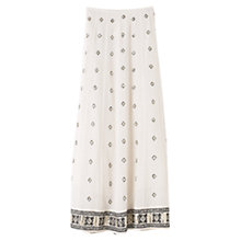 Buy East Maya Diamond Skirt, Pearl Online at johnlewis.com