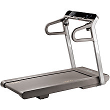 Buy MYRUN Technogym Treadmill, Stone Grey Online at johnlewis.com