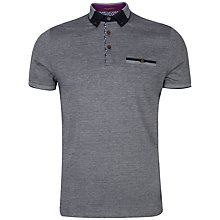 Buy Ted Baker Taytay Block Colour Oxford Polo Shirt, Navy Online at johnlewis.com