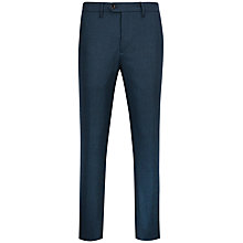 Buy Ted Baker Edetro Micro Textured Suit Trousers, Teal Online at johnlewis.com