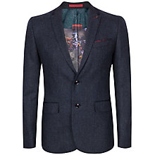 Buy Ted Baker Edeson Micro Design Wool Jacket, Navy Online at johnlewis.com