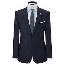 Buy John Lewis Subtle Check Cashmere Blend Tailored Blazer, Navy Online at johnlewis.com