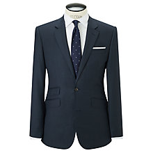 Buy John Lewis Super 120s Wool Birdseye Tailored Suit Jacket, Airforce Online at johnlewis.com