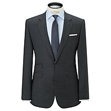 Buy John Lewis Super 100s Wool Prince of Wales Check Tailored Suit Jacket, Charcoal Online at johnlewis.com