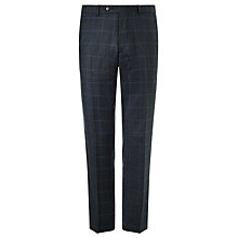 Buy John Lewis Wool Glen Check Tailored Suit Trousers, Navy Online at johnlewis.com