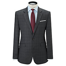 Buy John Lewis Super 100s Wool Sharkskin Check Tailored Suit Jacket, Grey Online at johnlewis.com