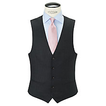 Buy John Lewis Wool Flannel Puppytooth Tailored Waistcoat, Charcoal Online at johnlewis.com