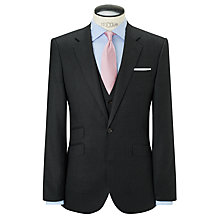 Buy John Lewis Wool Flannel Puppytooth Tailored Suit Jacket, Charcoal Online at johnlewis.com
