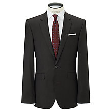 Buy John Lewis Super 120s Wool Birdseye Tailored Suit Jacket, Chocolate Online at johnlewis.com