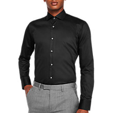 Buy Ted Baker Rosest Tailored Fit Shirt, Black Online at johnlewis.com