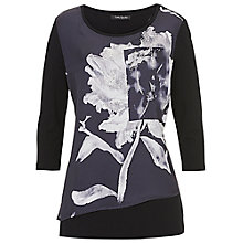 Buy Betty Barclay Floral Print Satin Tunic, Black/Grey Online at johnlewis.com