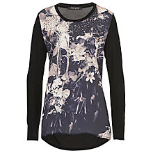 Buy Betty Barclay Floral Print Tunic, Black/Camel Online at johnlewis.com
