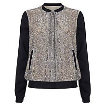 Buy Phase Eight Sequin Bomber Jacket, Multi Online at johnlewis.com