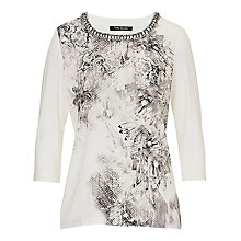 Buy Betty Barclay Beaded Print Top, Cream/Grey Online at johnlewis.com