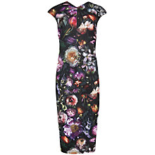 Buy Ted Baker Raisie Shadow Floral Midi Dress, Multi Online at johnlewis.com