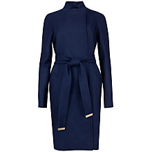 Buy Ted Baker Appia Wool Wrap Coat, Navy Online at johnlewis.com