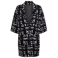 Buy Phase Eight Jasleen Graphic Print Jacquard Coat, Navy/Grey Online at johnlewis.com