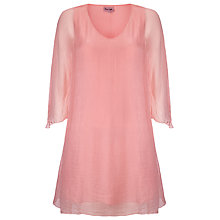 Buy Phase Eight Rabia Silk Tunic Dress, Petal Online at johnlewis.com