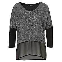 Buy Betty Barclay Contrast Top, Black/Silver Online at johnlewis.com