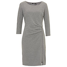 Buy Betty Barclay Side Zip Jersey Dress, Grey Melange Online at johnlewis.com